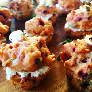 Mini Beetroot and goats cheese Muffins
