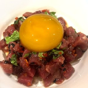 Tartare with egg